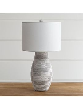 Cane White Table Lamp by Crate&Barrel