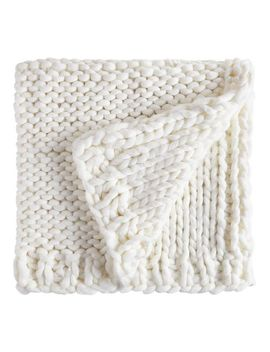 Super Chunky Knit Ivory Throw by Pier1 Imports