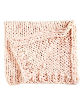 Super Chunky Knit Blush Throw by Pier1 Imports
