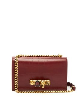 Crystal Embellished Leather Cross Body Bag by Alexander Mc Queen