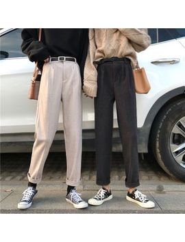 Maisee   Crop Straight Fit Pants by Maisee