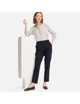 Women Ezy Ankle Length Pants (Pinstripe) by Uniqlo