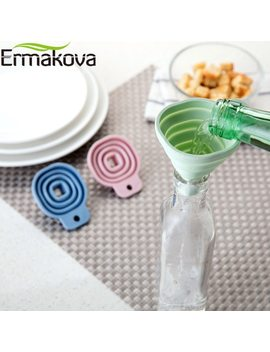 Ermakova Collapsible Funnel Silicone Foldable Funnel For Water Bottle Hopper Foldable Kitchen Funnel For Liquid Powder Transfer by Ermakova