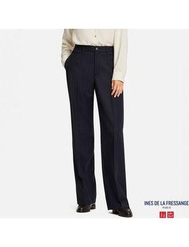 Women Idlf Wool Blended Wide Pants by Uniqlo