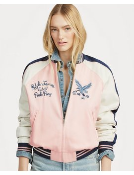 Pink Pony Satin Bomber Jacket by Ralph Lauren