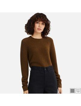 Women Uniqlo U Wool Crew Neck Sweater by Uniqlo