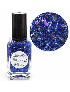Lynnderella Multi Glitter Blue Nail Polish—When The Moon Was A Star by Amazon