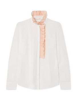 Ruffle Trimmed Silk Georgette Blouse by Chloé