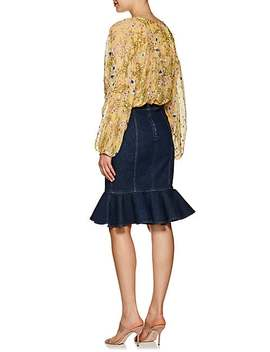 Mia Floral Silk Peasant Blouse by Isabel Marant