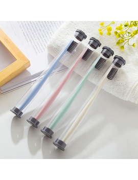 Bamboo Charcoal Soft Bristle Toothbrush 1 Pc Adults Toothbrush New Shop Promotion Price Buy 2 Pcs Will Ship A Free Gift Plastic by Ulknn