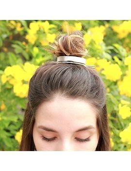 Original Design High Polished Alloy Round Top Hair Cuff Bun Cage Minimalist Bun Holder Cage Hair Stick Wedding Hair Accessories by Cosstore