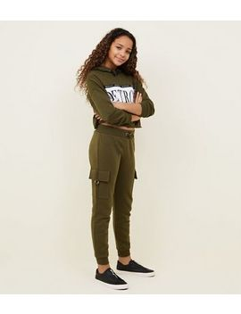 Girls Khaki Utility Joggers by New Look