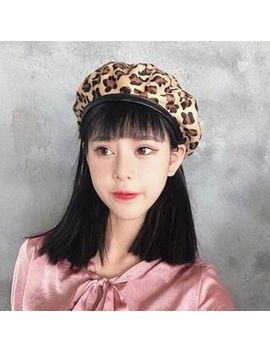 Frome   Leopard Print Beret Hat by Frome