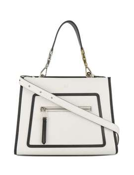White Runaway Leather Shoulder Bag by Fendi