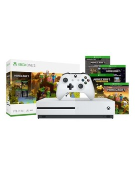 Xbox One S 1 Tb Minecraft Bundle by Microsoft
