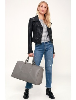 Stay The Night Grey Weekender Bag by Lulus