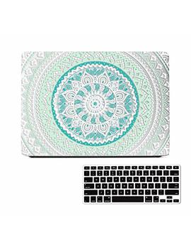 Mac Book Air 13 Inch Case, Mandala Design Rubber Coated Matte Clear See Through Soft Touch Plastic Hard Shell Case For Mac Book Air 13 Inches Model:A1466 A1369 With Keyboard Cover by Lapac