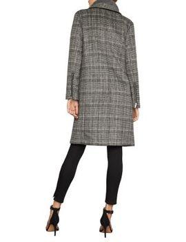 Valentina Glen Plaid Long Coat by Bcbgmaxazria