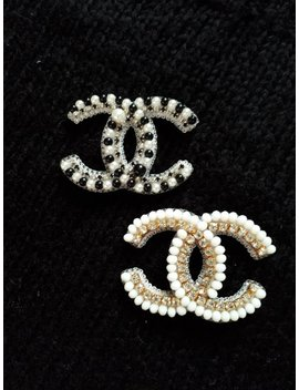 Jewellery Brooch/Jewelry Accessories/Chanel Brooch/Coco Chanel/Cc Brooch/Gift For Woman/New Year Gift/Embroidered Brooch/Handmade/Pins/Pin by Etsy