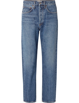 '90s Mid Rise Straight Leg Jeans by Agolde