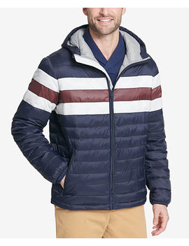 Men's Color Block Hooded Ski Coat, Created For Macy's by Tommy Hilfiger