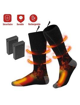 Gesundhome Beheizbare Socken Fußwärmer Elektrisch Premium Baumwolle Sportsocken Winter Für Damen Herren Schwarz by Amazon