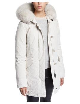 Luxury Arctic Hooded Parka Coat W/ Fur by Woolrich