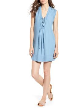 Lace Up Chambray Dress by Splendid