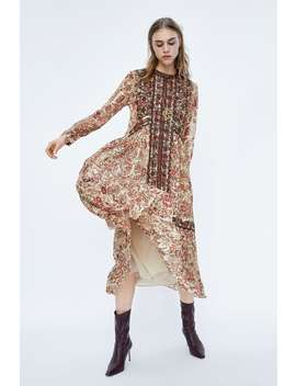 Embroidered Embroidered Dress  Maxi Dress Women's Ladies by Zara