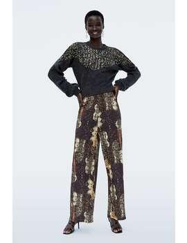 Printed Pants  Palazzo Pants Woman by Zara