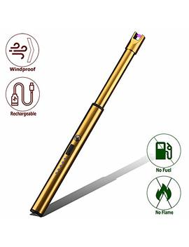 Elite Brands Usa Plasma Arc Trendy Long Neck Rechargeable Windproof Usb Lighter, Ideal For Gas Stove Candle Fireplace Kitchen Grills Bbq, Flameless... by Elite Brands Usa