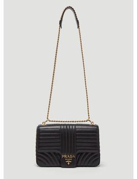 Diagramme Shoulder Bag In Black by Prada