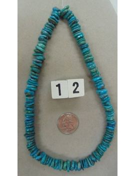 "Blue/Green Turquoise 16 1/2"" Loose Disk/Rondelle/<Wbr>Nugget Bead Strand #12 by Ebay Seller"