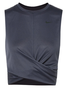Cropped Twisted Ribbed Dri Fit Tank by Nike