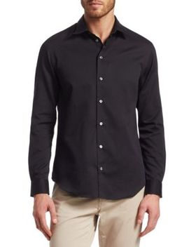 Classic Cotton Button Down Shirt by Emporio Armani