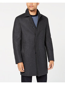 Men's Slim Fit Darcy Graphite Overcoat by Dkny