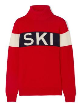 Intarsia Merino Wool Turtleneck Sweater by Perfect Moment