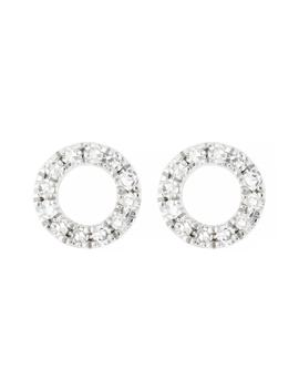 Carrière Small Diamond Circle Earrings by Carriere Jewelry