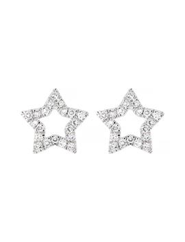 Carrière Open Star Diamond Stud Earrings by Carriere Jewelry