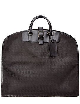 Fendi Black Zucchino Canvas Garment Bag by Fendi