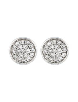Carrière Diamond Pavé Circle Stud Earrings by Carriere Jewelry