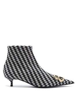 Houndstooth Bb Ankle Boots by Balenciaga