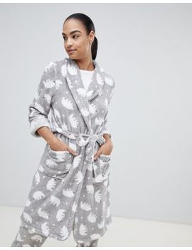 Hunkemoller Polar Bear Fleece Robe by Hunkemöller