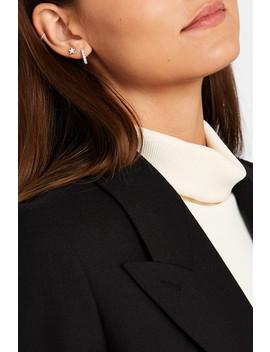 9.5mm 18 Karat White Gold Diamond Hoop Earring by Maria Tash