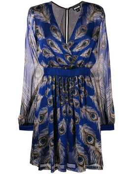 Peacock Feather Mini Dress by Just Cavalli