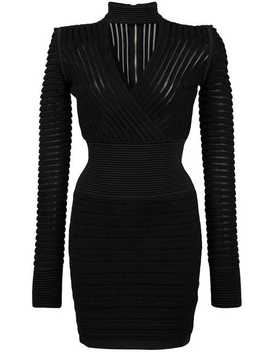 Ribbed Mini Dress by Balmain