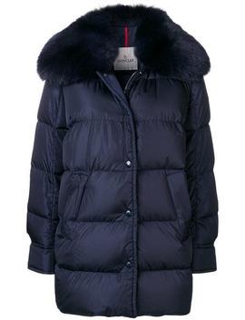 Fur Trim Puffer Jacket by Moncler