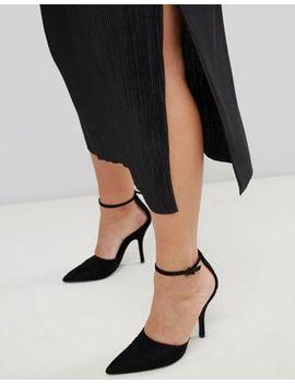 River Island Plus Plisse Midi Skirt In Black by River Island Plus