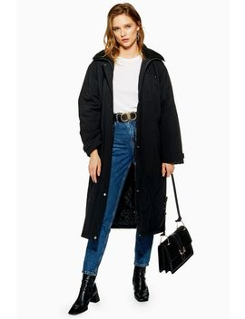 Longline Hooded Parka by Topshop