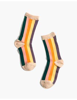 Madewell X Hansel From Basel™ Vertical Multistripe Crew Socks by Madewell